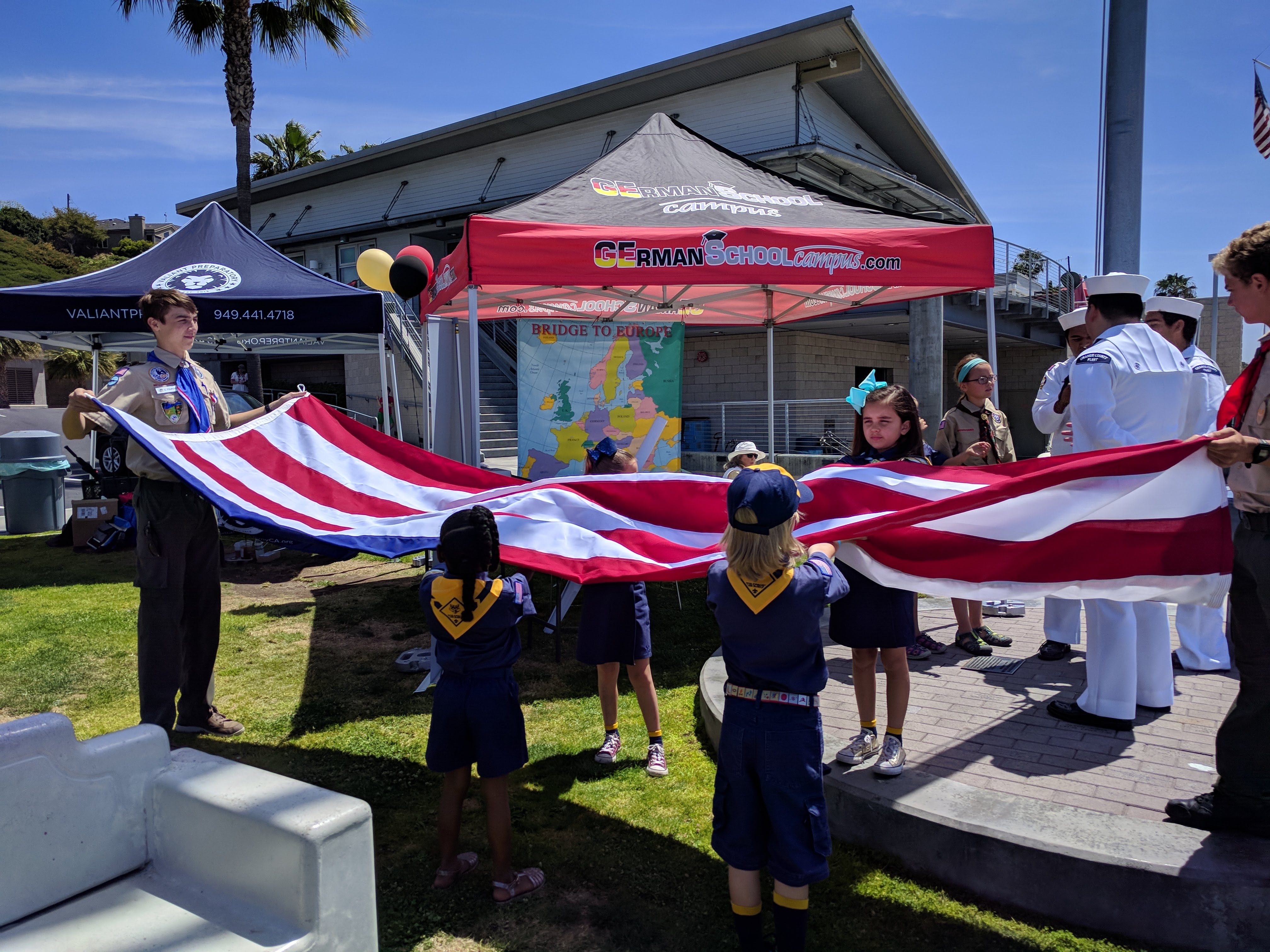 Flag ceremony at the Community Event of Open House