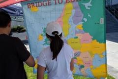 "German School campus game with ""Bridge to Europe"""