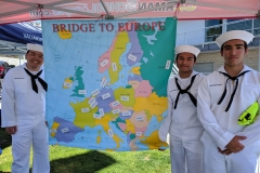 German School campus Booth with Sea Scouts