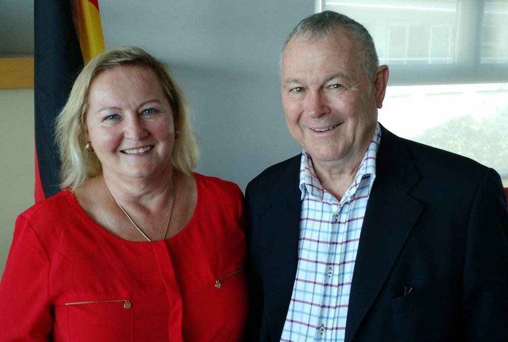 Ursula Schoeneich Principal with Congressman Dana Rohrabacher