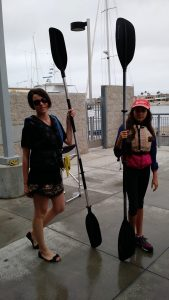 Frau Mueller going Kayaking with students