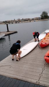 Water activities such as kayaking