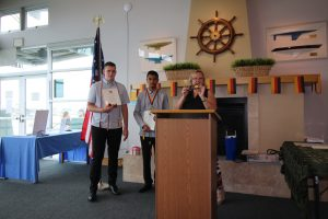 Alex and Marwan received the Delta Epsilon Phi National Honor Society for High School Students of German certificate and patches