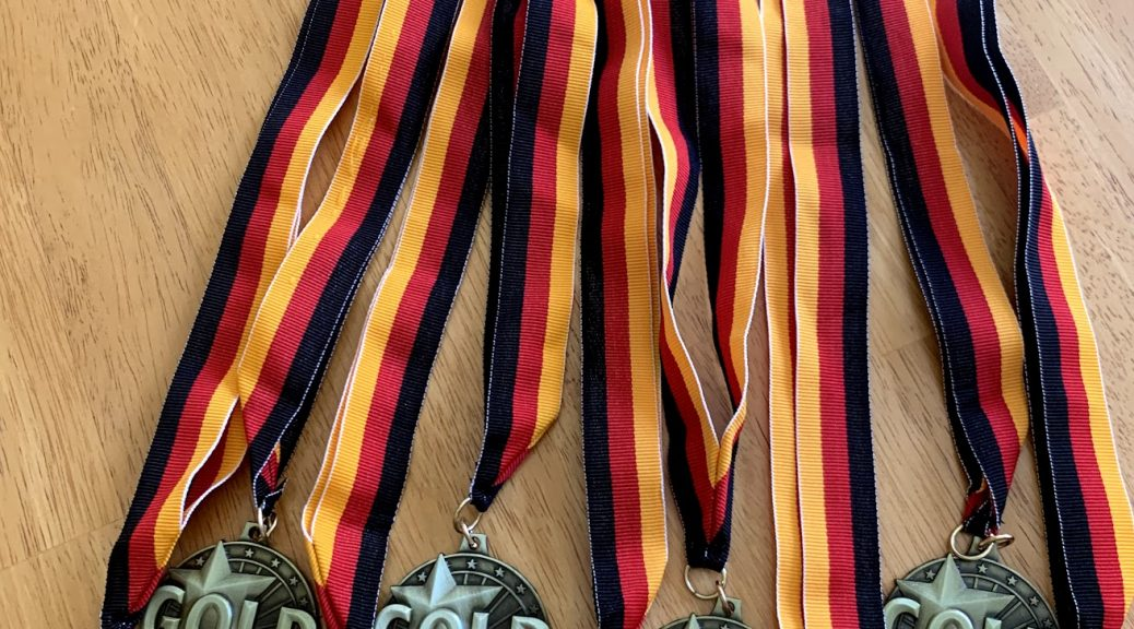 AATG Gold and silver at German school campus newport beach