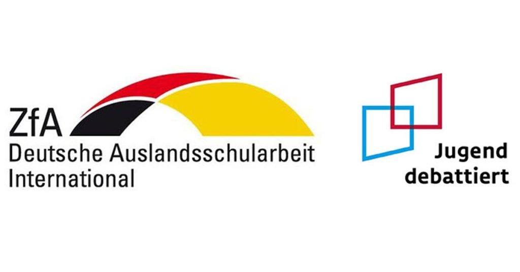 GERMAN SCHOOL campus 1. Place with Sinead Roche Jugend debattiert Nordamerika Regionalfinale West 2021