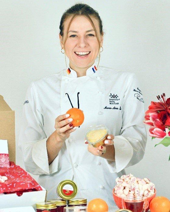 Chef Marie Kuhn at Institut Paul Bocuse